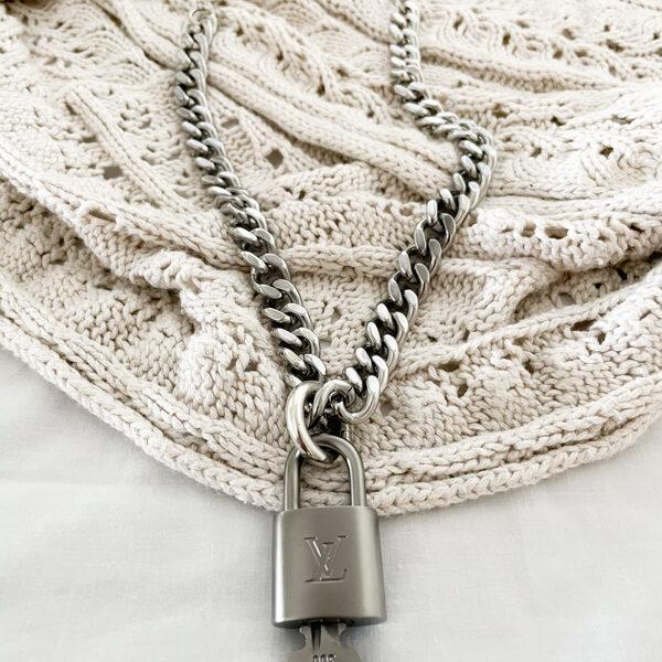 Lv padlock necklace