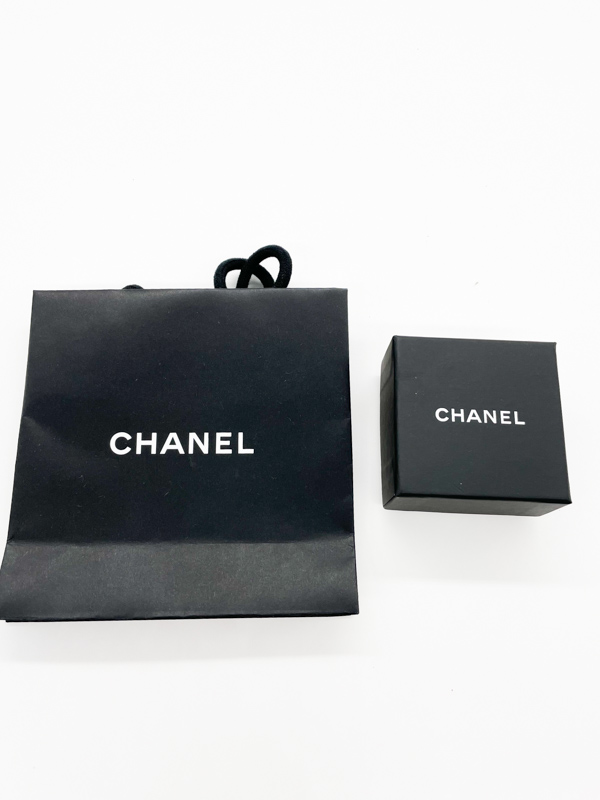 Chanel earrings with CC logo
